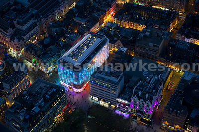 Aerial view of the W Hotel in Leicester Square, London