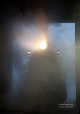 Nevada Northern Railway #93 in the fog