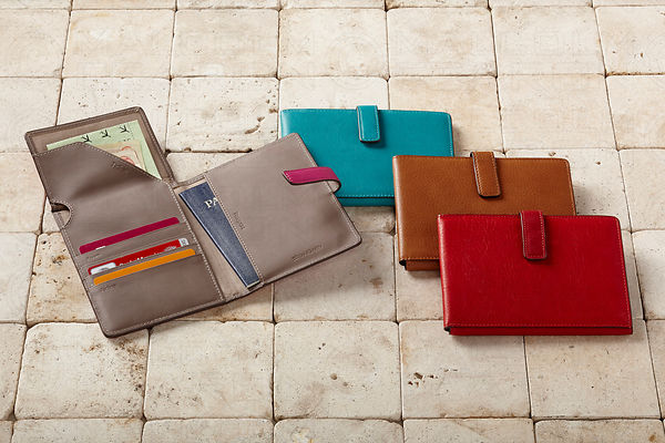 multi colored passport holder group image