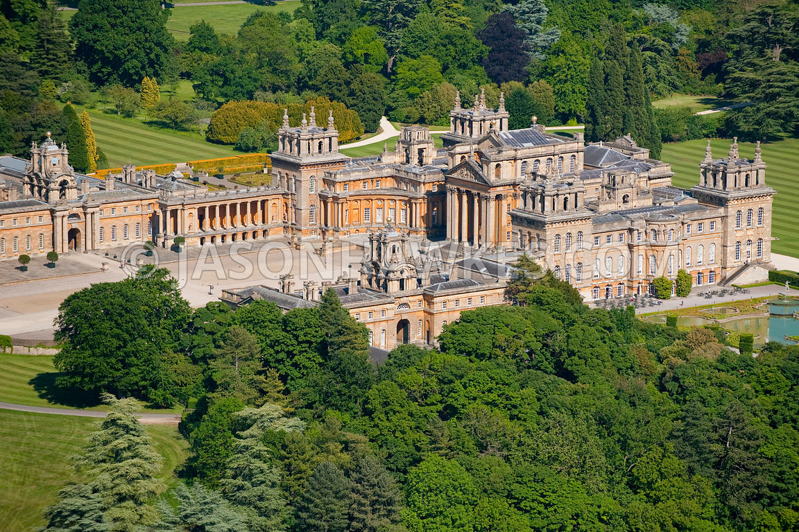 Aerial View Aerial View Of Blenheim Palace Jason Hawkes