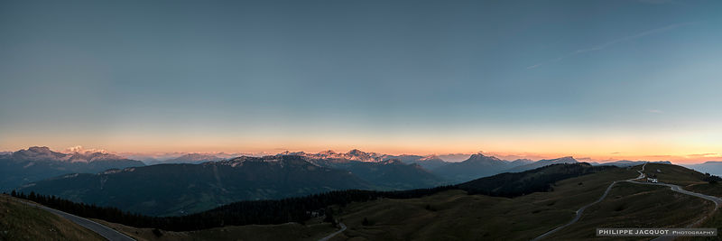 Twilight (sunset) - Annecy Semnoz