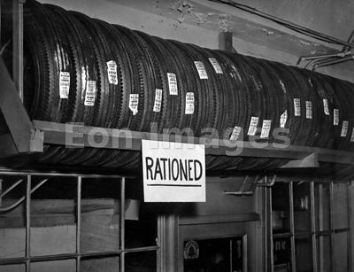 Rationed tires during WWII