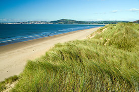 Aberavon Beach, Port Talbot, with views across Swansea Bay, South Wales.
