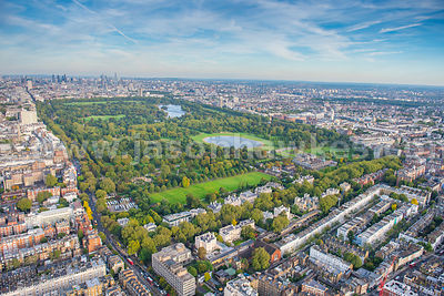 Aerial view of Kensington Gardens, London