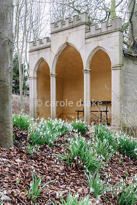 The Gothic Alcove. Painswick Rococo Garden, Painswick, Glos, UK
