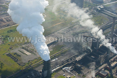 Aerial view of Power Station, Port Talbot