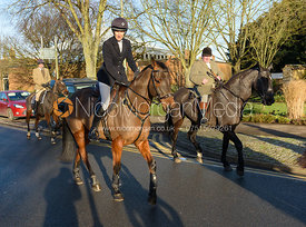 Zoe Gibson and Michael Stokes  - Boxing Day Meet of the Cottesmore Hunt, Oakham 26/12