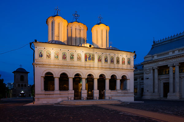 Romanian Patriarchal Cathedral at Dusk
