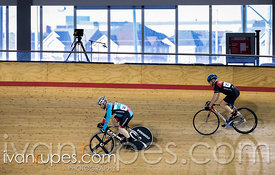 Master B Men Sprint 3-4 Final. Ontario Track Championships, Mattamy National Cycling Centre, Milton, On, March 4, 2017