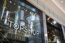 Topshop at Newcastle's retail shopping center Eldon Square.