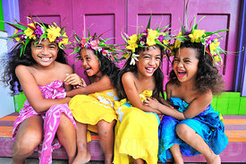 Cook Island Girls playing