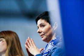 Woman during the Final Tournament - Final Four - SEHA - Gazprom league, Bronze Medal Match Meshkov Brest - PPD Zagreb, Belarus, 09.04.2017, Mandatory Credit ©SEHA/ Jozo Čabraja..