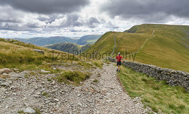 Fell running in the Lake District, UK.