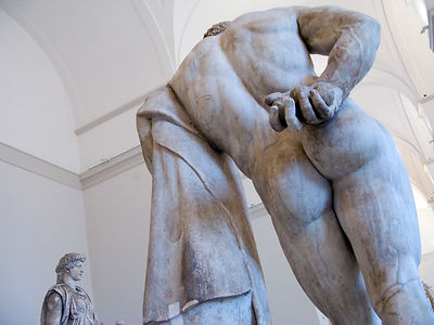 Italy - Naples -Detail of the Farnese Hercules