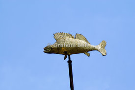 Perch weathervane, Town Bridge, Bradford on Avon, Wiltshire, England