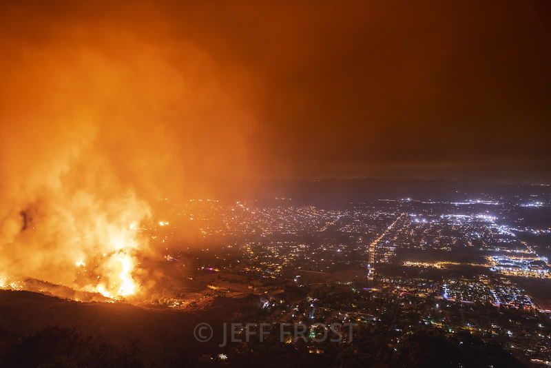 Wildfire Urban Interface time lapses