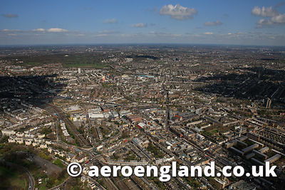 aerial photograph of  Camden Town  London UK