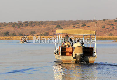 Tourist boats on the River Chobe, Botswana