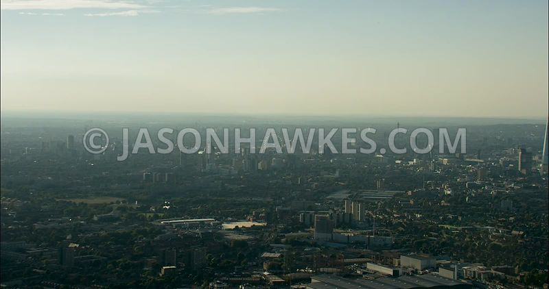 London Aerial Footage of Elephant and Castle and Bermondsey
