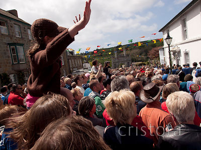 crowds fill Helston on Flora Day