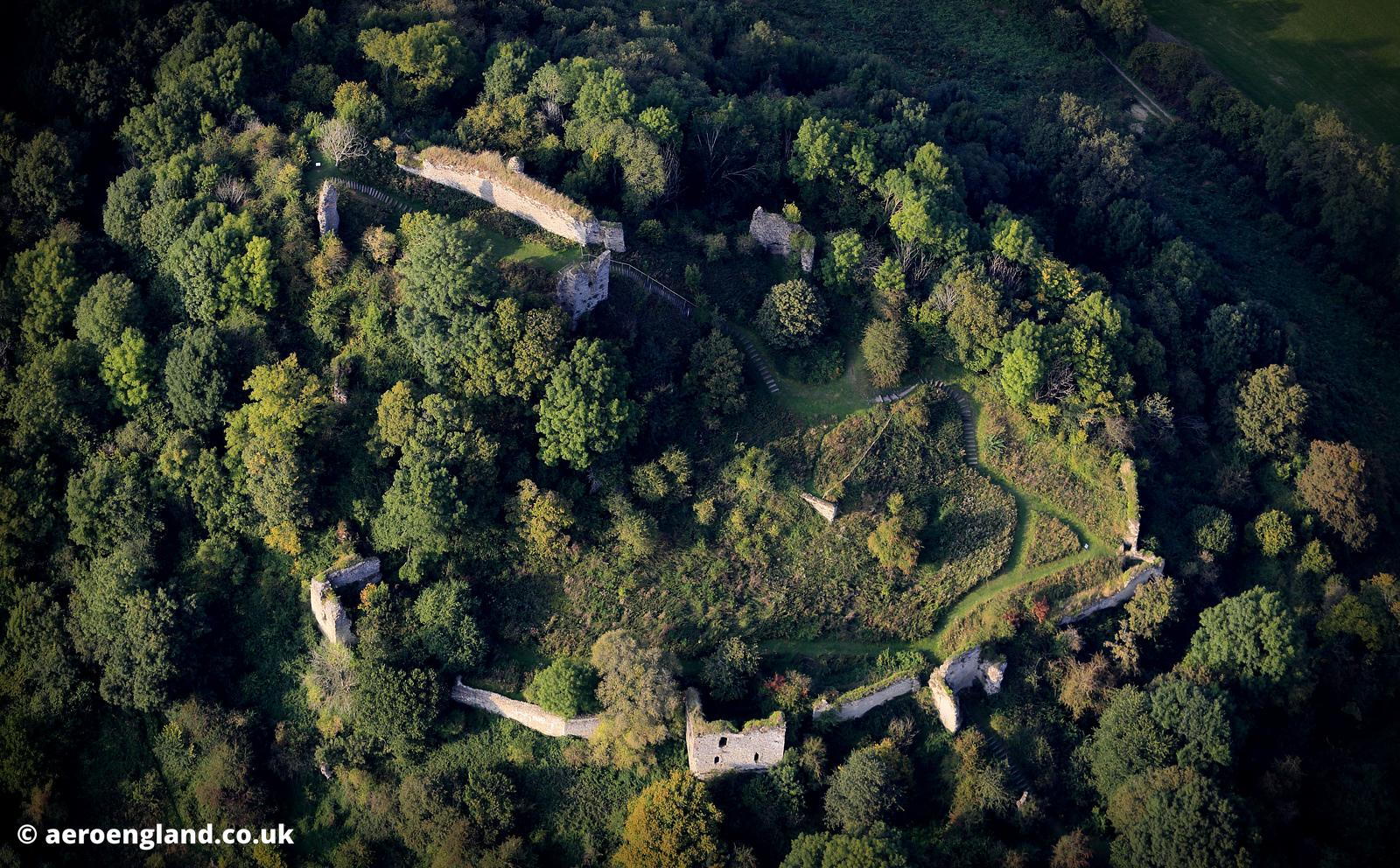 aerial photograph Wigmore Castle Herefordshire