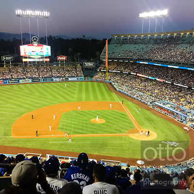 Dodger Stadium on a Monday back in June