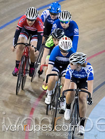 Junior Women Keirin Round 1. Canadian Track Championships (U17/Junior), April 3, 2016