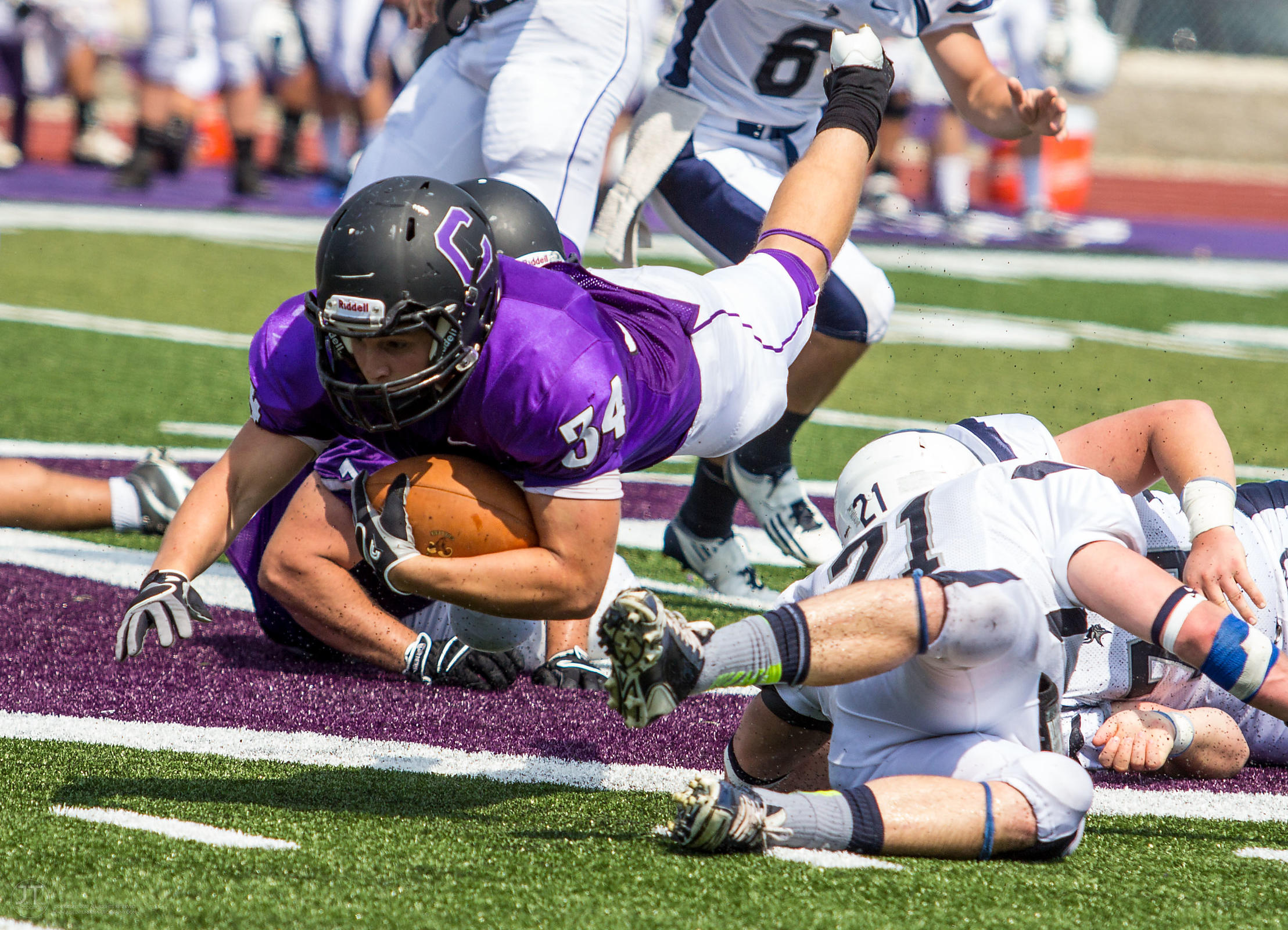 Lawrence vs Cornell Football, Sept 7, 2013