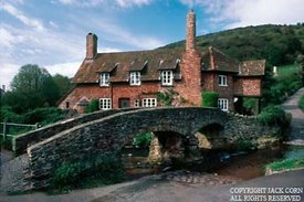 England, Allerford in Devon, bridge