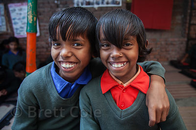 Brother and sister at a school in Varanasi, India operated by Dutch NGO Duniya (duniya.org). Taken in 2013.