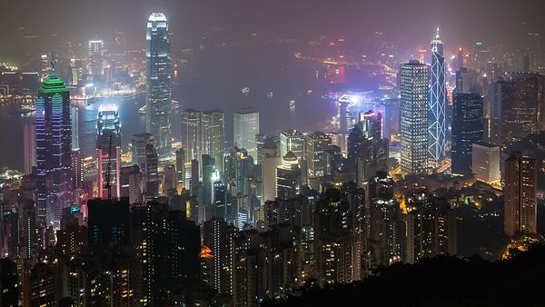Bird's Eye: Hong Kong Laser & Neon Light Show