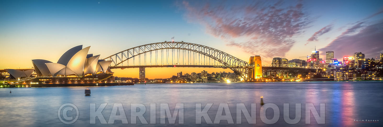 Panorama - Sydney Opera House at sunset