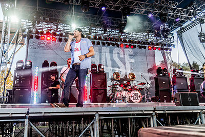 Chase Rice and his band