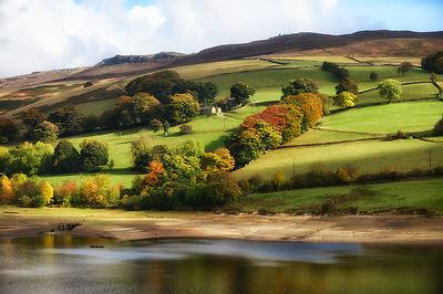 Autumn by Ladybower Dam in the Peak District
