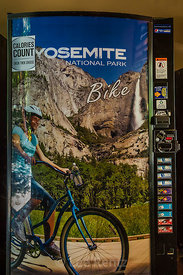 Vending Machine Showing Yosemite Valley in Yosemite National Park