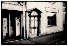 Old petrol station, Silver Street, Taunton.