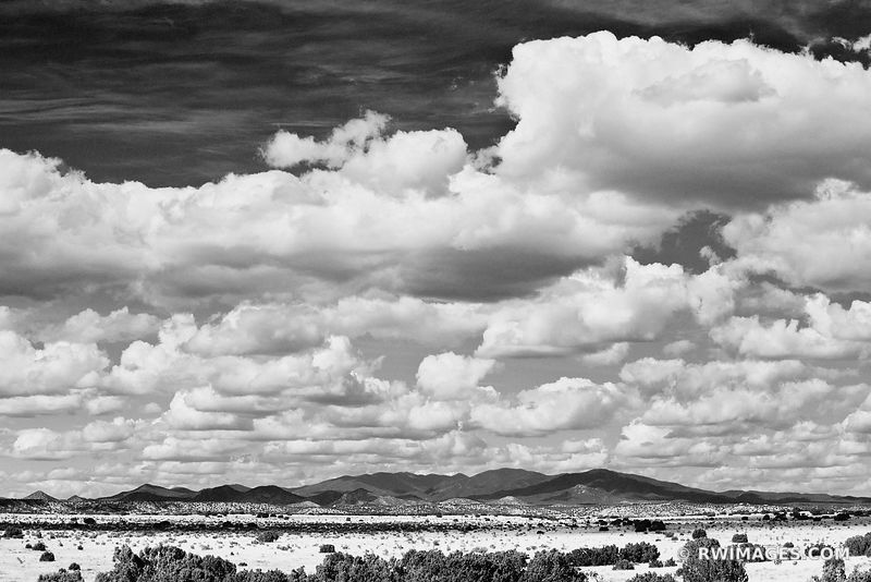 TURQUOISE TRAIL NEW MEXICO LANDSCAPE BLACK AND WHITE AMERICAN SOUTHWEST DESERT LANDSCAPE