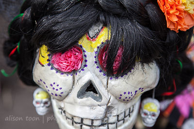 SACRAMENTO, 3 NOVEMBER 2013: Día de los Muertos as celebrated in Sacramento, California, 4th annual El Panteon de Sacramento