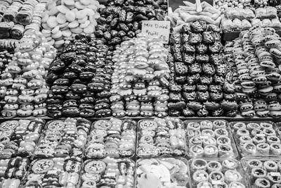 Sweet treats for sale in the spice market, Istanbul