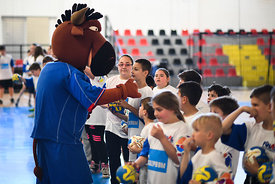 during the Final Tournament - Kids day - Final Four - SEHA - Gazprom league, Skopje, 14.04.2018, Mandatory Credit ©SEHA/ Nebojsa Tejic
