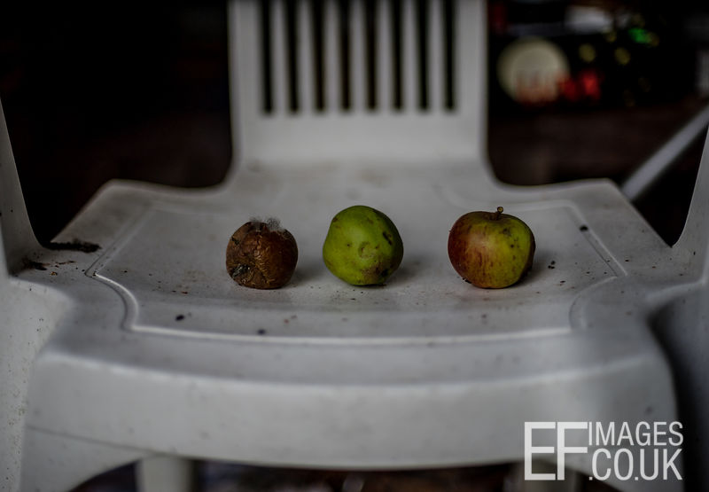 Apples On A Plastic Chair