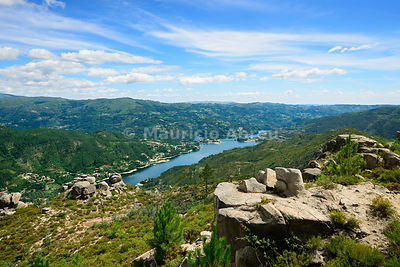 Caniçada dam in the Peneda Gerês National Park. Minho, Portugal