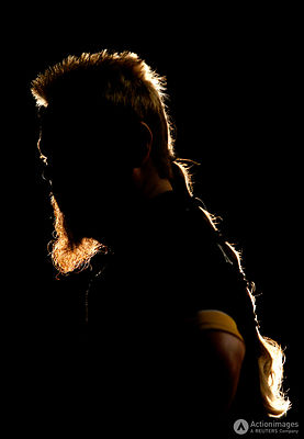 Darts - Whyte & Mackay Premier League Darts Preview Press Conference - The 02 Arena, London - 10/2/10.Simon Whitlock during the launch .Mandatory Credit: Action Images / Steven Paston.Livepic