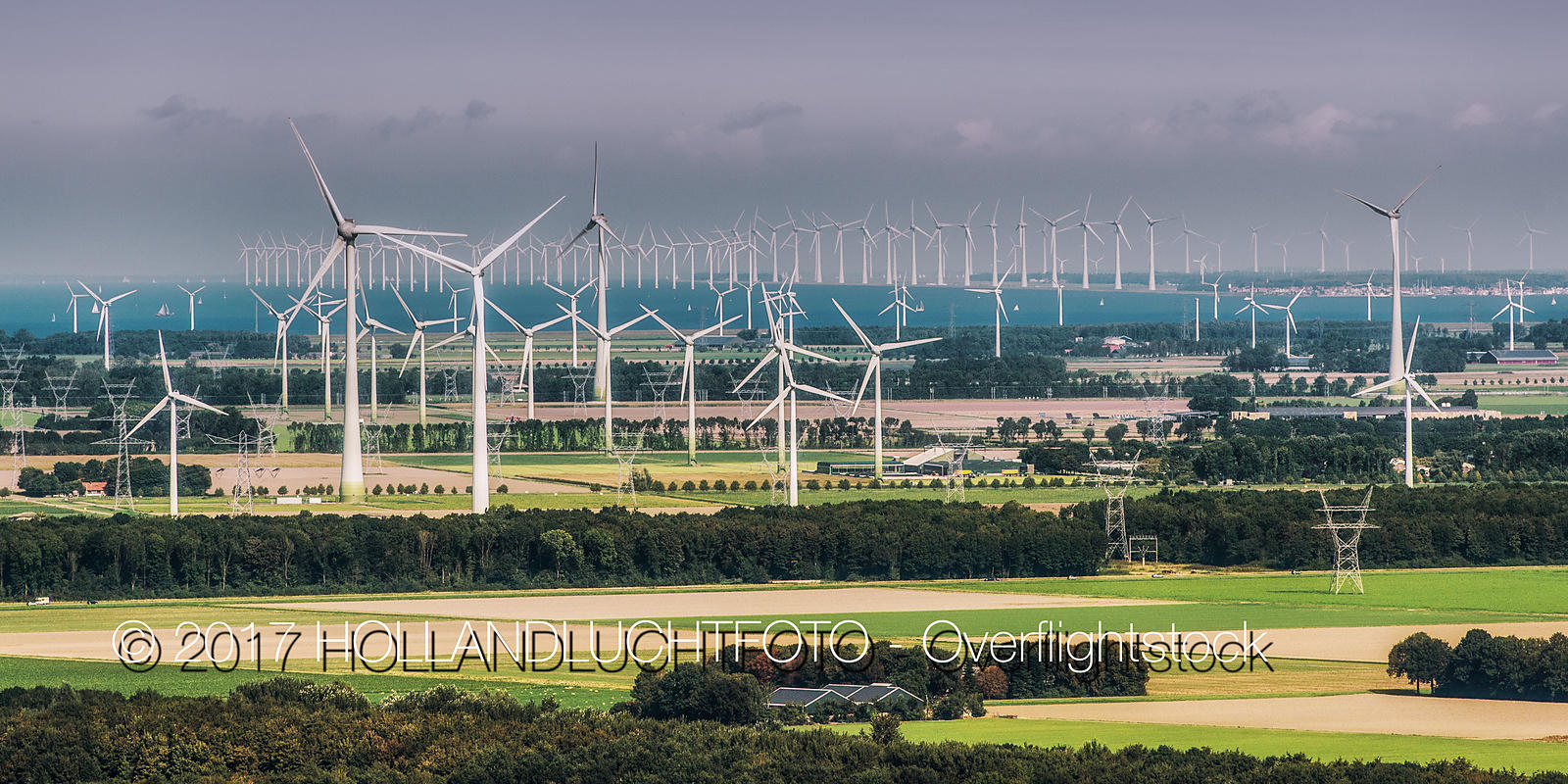 Wind Power Generation  in the Province of Flevoland in the Netherlands