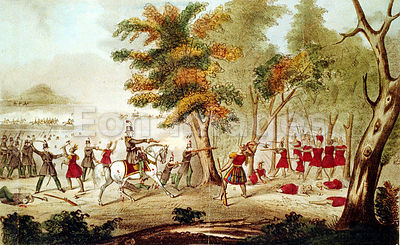 Battle of the Thames and death of Tecumseh during War of 1812