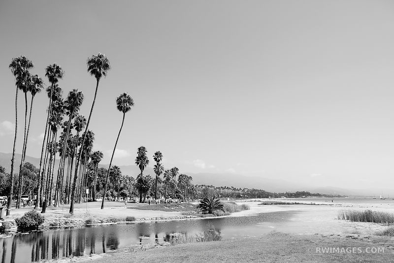 SANTA BARBARA WATERFRONT BLACK AND WHITE