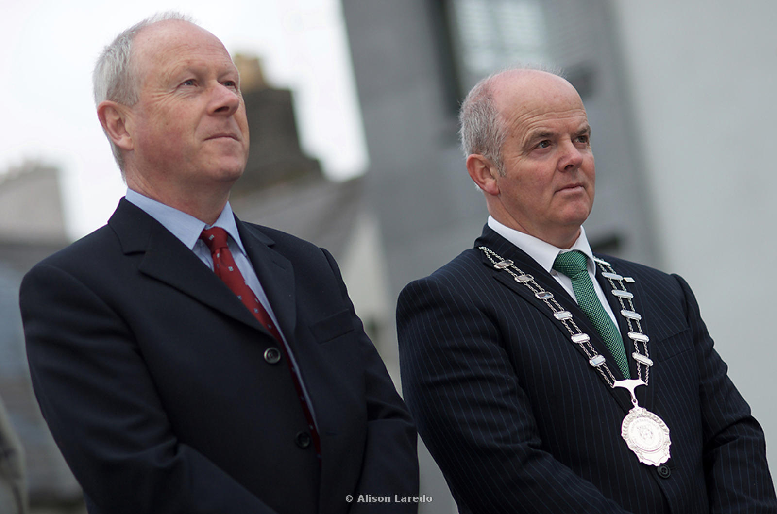 Mayo County Council Director of Services, Paddy Mahon and Cllr Blackie Gavin at the 1916 Commemoration, Castlebar PHOTO: ALISON LAREDO