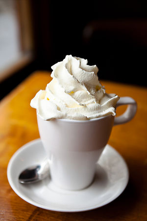 Hot Chocolate with Creme Chantilly