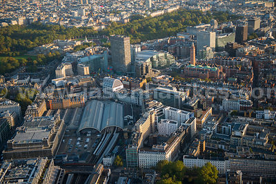 London. Aerial view of London Victoria Station