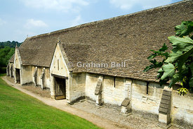 The medieval Tithe barn, Barton Grange, Bradofrd on Avon, Wiltshire.